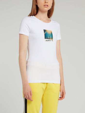 White Polaroid Print T-Shirt