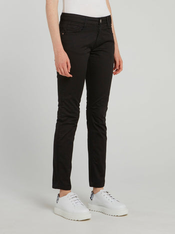 Black Skinny Cropped Trousers