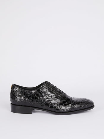 Black Snake Effect Oxford Shoes