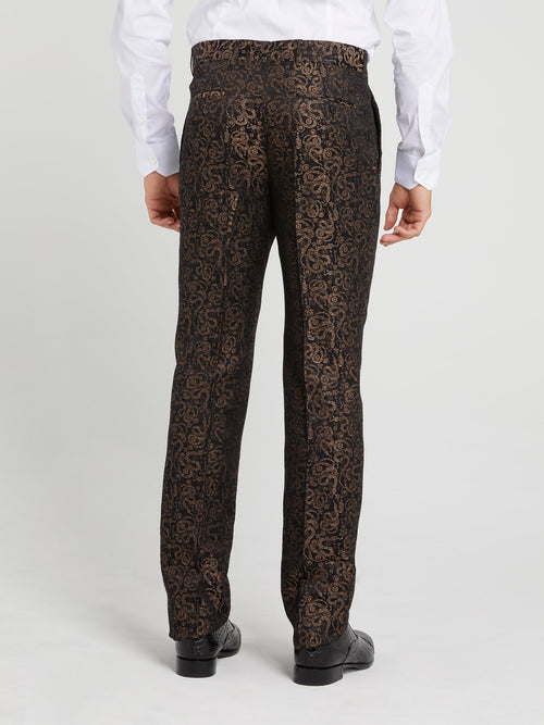 Snake Print Suit Trousers