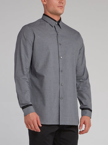 Grey Pin Check Shirt