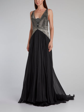 Gillian Beaded Bodice Maxi Dress