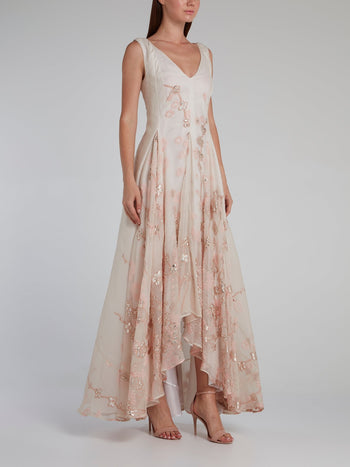 Pink God)t High-Low Maxi Dress