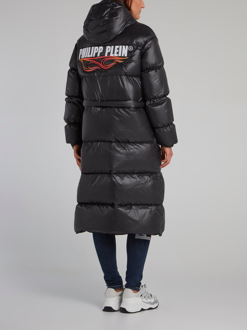 Black Logo Down Jacket