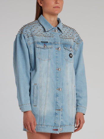 Gothic Plein Spike Studded Denim Jacket