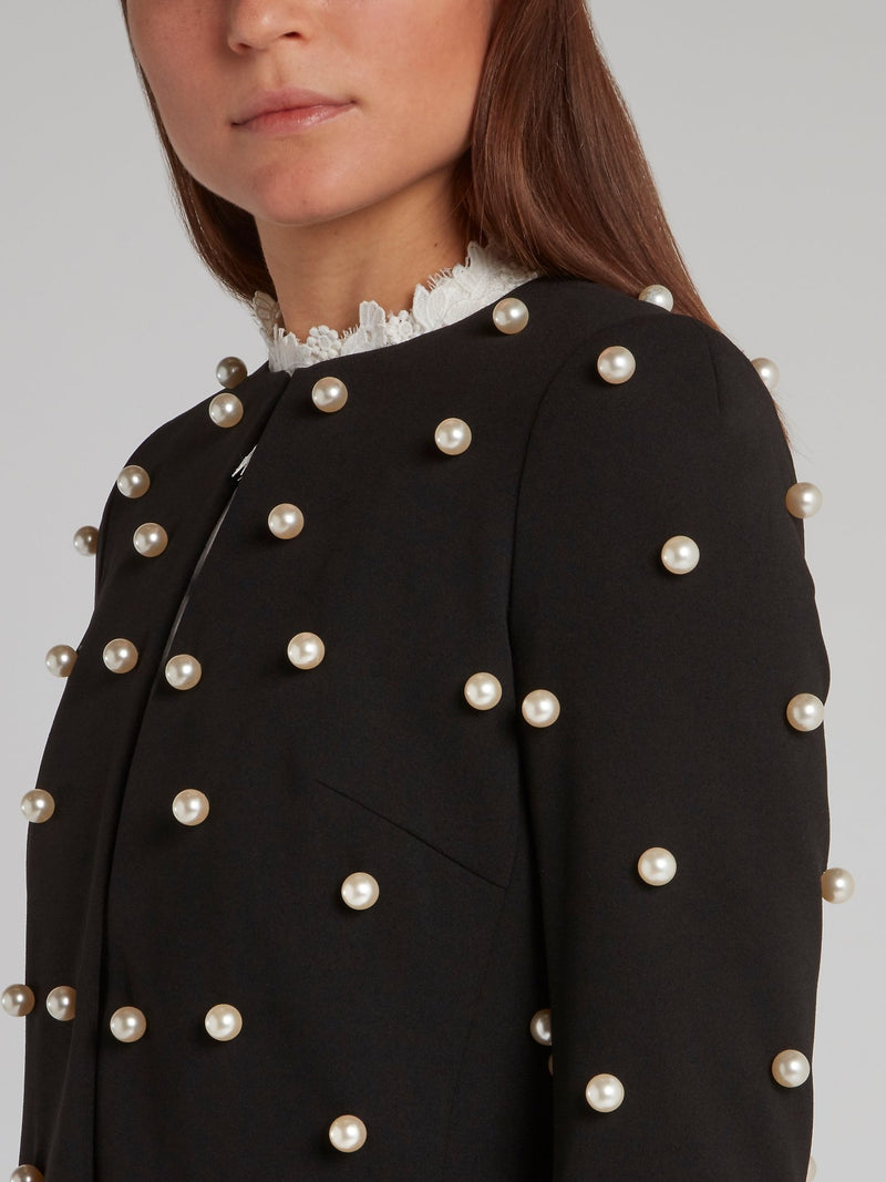 Black Pearl Embellished Jacket