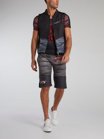 Drawstring Printed Active Shorts