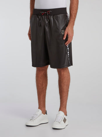 Black Contrast Active Shorts