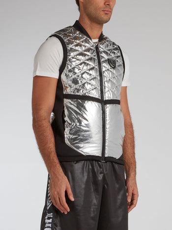 Silver Foil Quilted Waistcoat