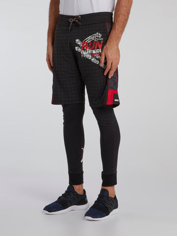 Tomas Grid Print Jogging Trousers