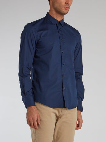 Navy Classic Button Up Shirt