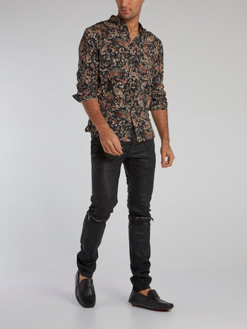 Paisley Print Button Up Shirts