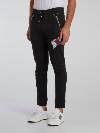Black Zip Pocket Active Pants