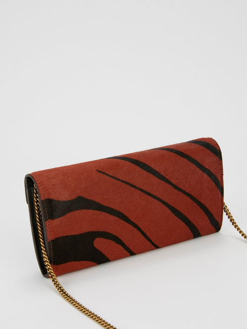 Zebra Effect Cavallino Shoulder Bag