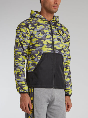 Chartreuse Camo Sweat Jacket
