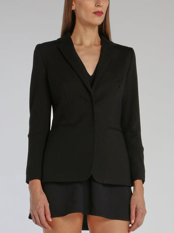 Black Rear Star Detail Blazer