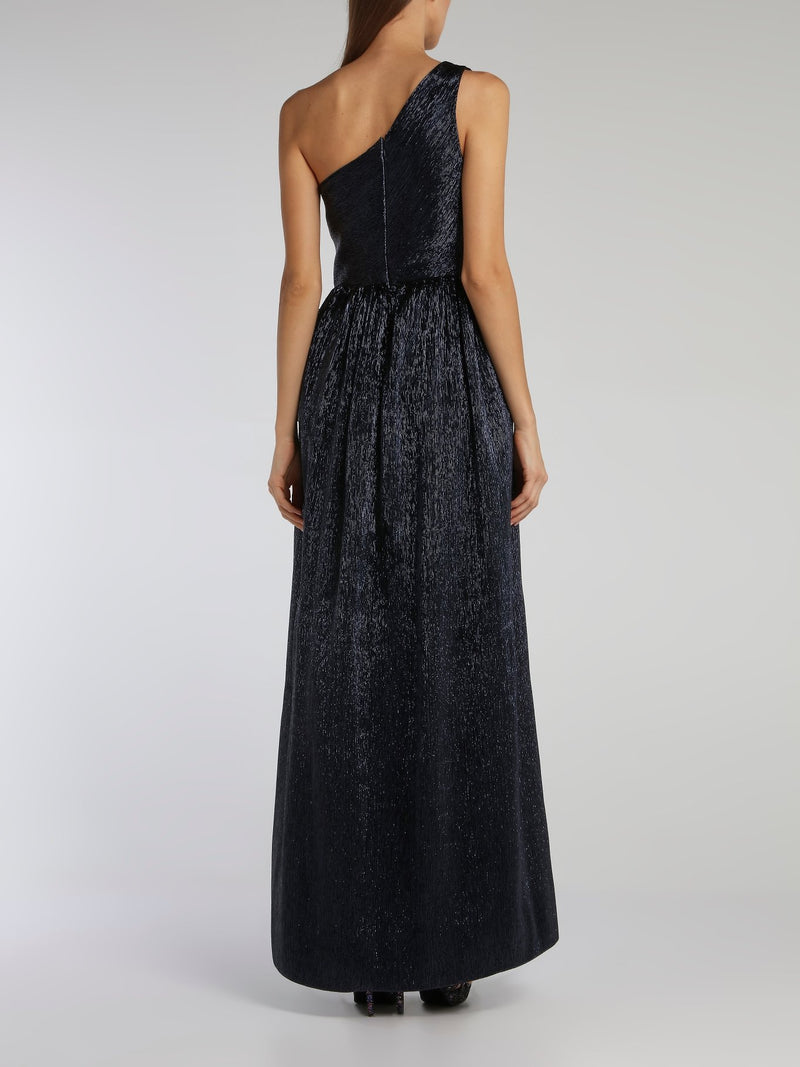 Othilia Navy One-Shoulder Maxi Dress