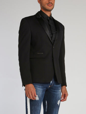 Black Space Plein Embroidered Blazer