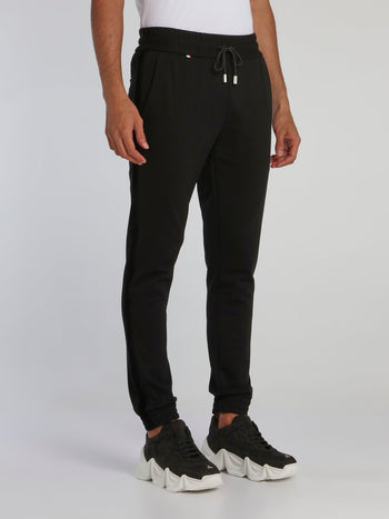 Black Drawcord Track Trousers