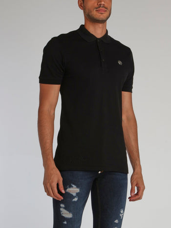 Black Stars and Skull Polo Shirt