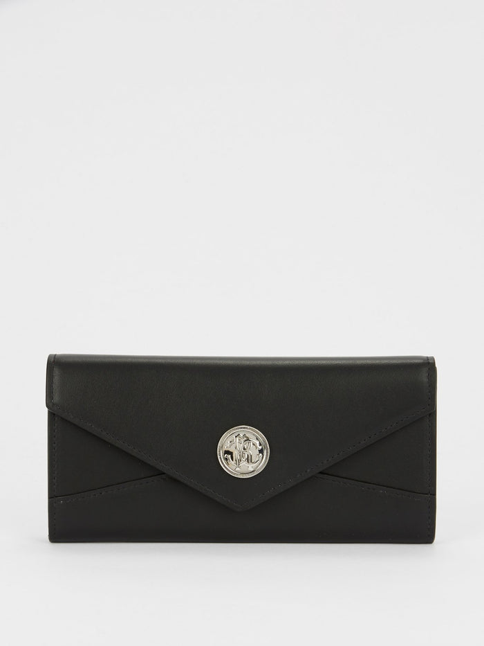 Black Leather Gange Wallet