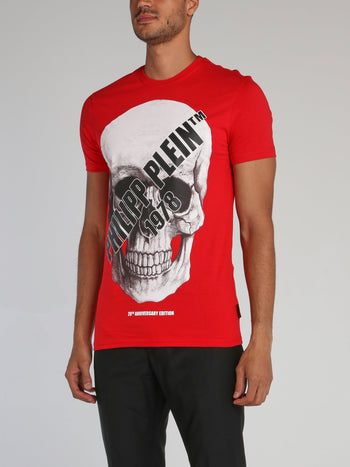 Red Logo Skull T-Shirt