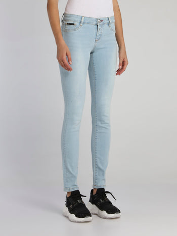 Light Blue Wash Skinny Jeans