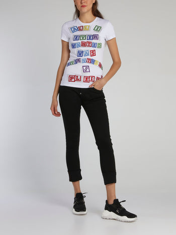 White Block Letter Statement T-Shirt