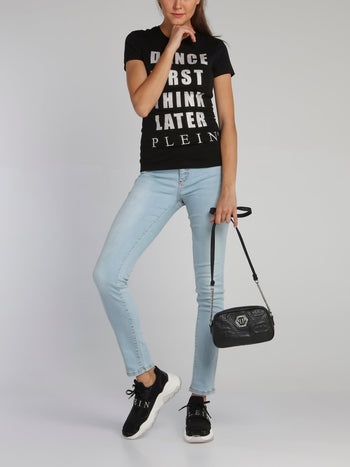 Black Crystal Statement T-Shirt