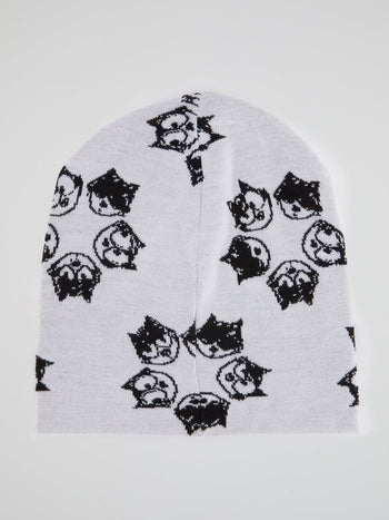 Felix the Cat White Beanie Hat