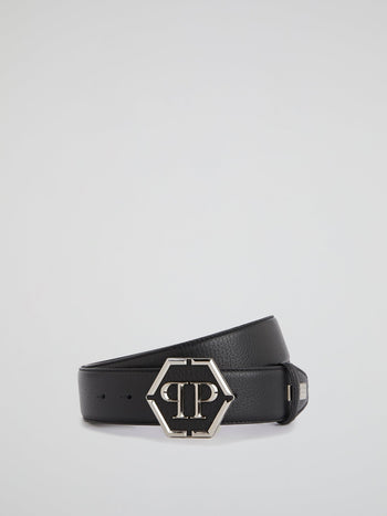 Black Monogram Buckle Belt