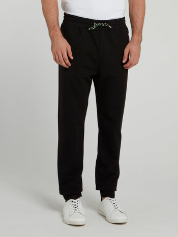 Black Knitted Fleece Pants