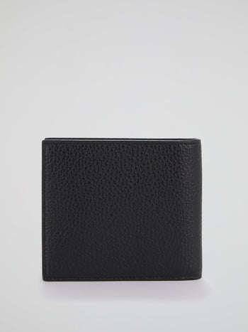 Black Monogram Appliquéd French Wallet