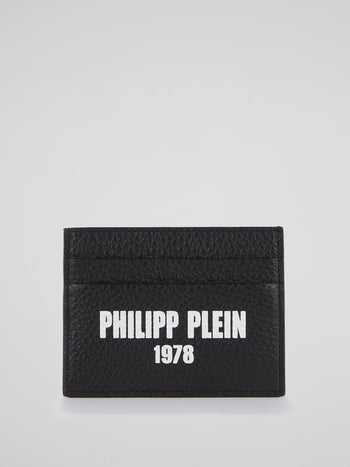 PP1978 Black Logo Credit Card Holder