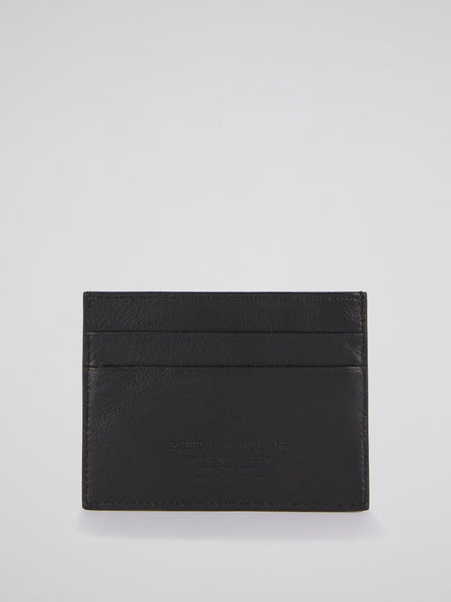 Black Geometric Credit Card Holder