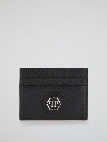 Black Monogram Patched Credit Card Holder