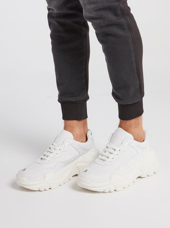 White Runner Original Platform Trainers