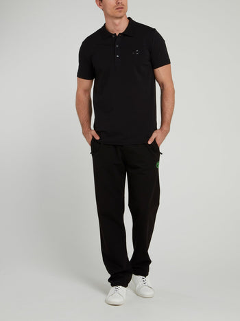 Black Sport Icon Fleece Trousers