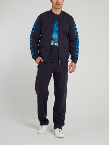 Navy Sport Icon Fleece Pants