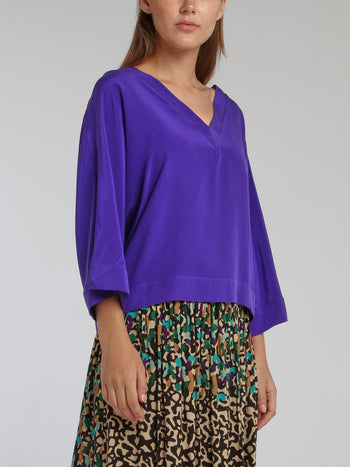 Melanie Purple Swing Top