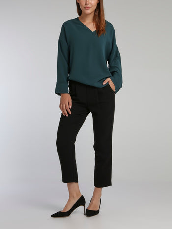 Lido Teal Long Sleeve Top