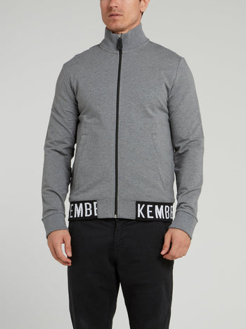 Grey High Neck Jacket