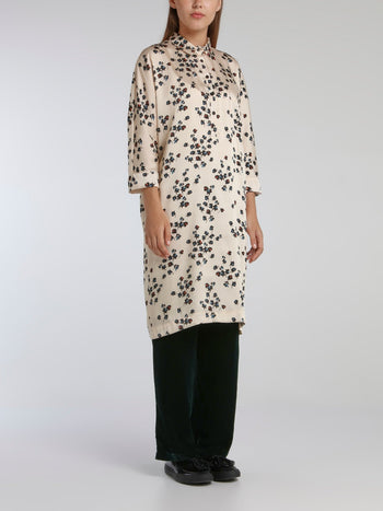 Vora White Printed Shirt Dress