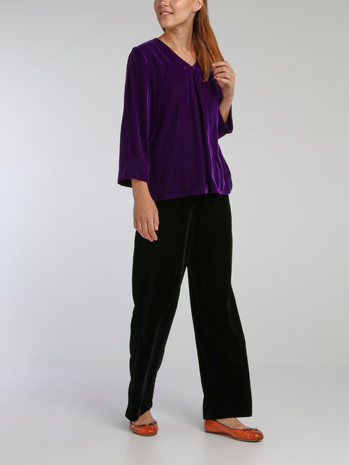 Winsor Purple Velvet Top