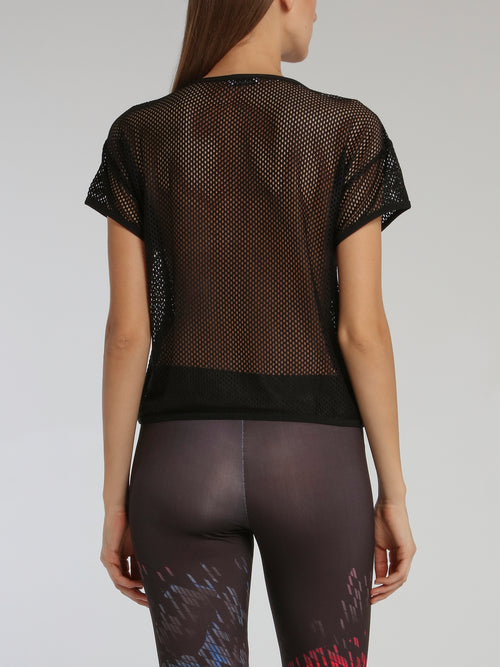 Black Net Mesh Top
