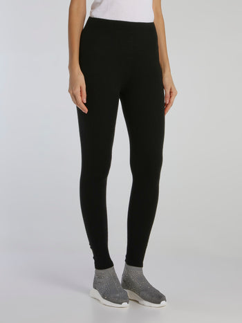 Bimba Black Knit Leggings