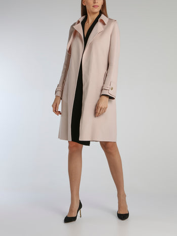 Charly Pink Double-Sided Trench Coat