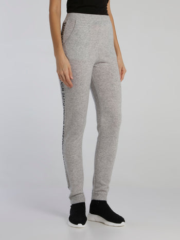 Jimi Grey Waistband Knitted Active Pants