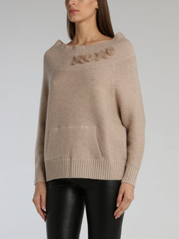 Lea Beige Knitted Pullover
