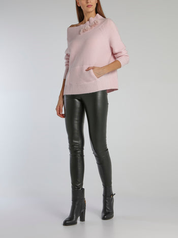 Lea Pink Knitted Pullover